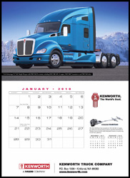 2018 Kenworth Trucks Appointment Calendar
