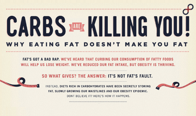 Carbs Are Killing You: Eating Fat Doesn't Make You Fat