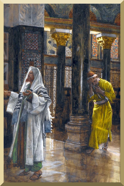 """The Pharisee and the Publican"" -- by James Tissot"