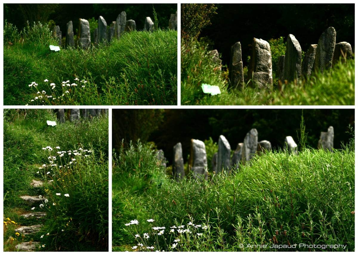 collage, standing stones images at Brigit's Garden