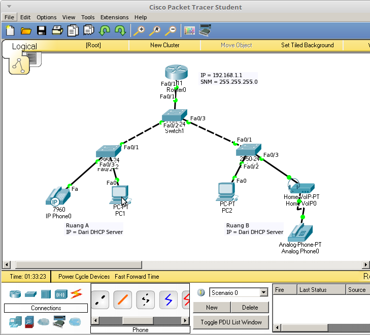 Simulasi Pembuatan Layanan VOIP Pada Cisco Packet Tracer - Ivan