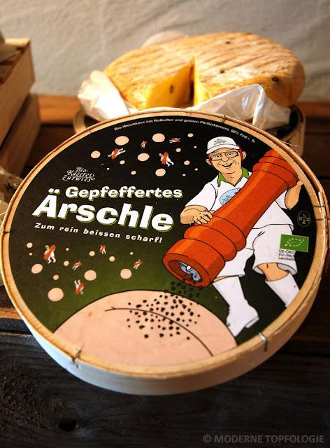 Gepfeffertes Ärschle - ein Käse mit Pfefferkick.
