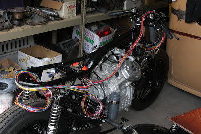 motosynthesis home of the comstar spoke conversion rings cx500 build Guitar Wiring Harness i mounted the harness under the cdi coil regulator tray the old coils were in sad shape so i replaced them with new smaller units