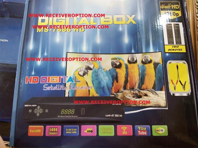 DIGITAL BOX MS-7888 HD RECEIVER POWERVU KEY ORIGINAL NEW SOFTWARE