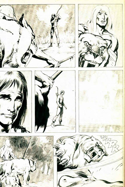 Savage Tales v1 #10 conan marvel comic book page art by Neal Adams