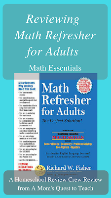 Math Refresher for Adults book cover