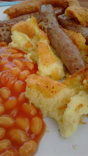 Toad in the Hole with Beans