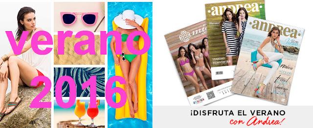 catalogos digitales Andrea  verano 2016
