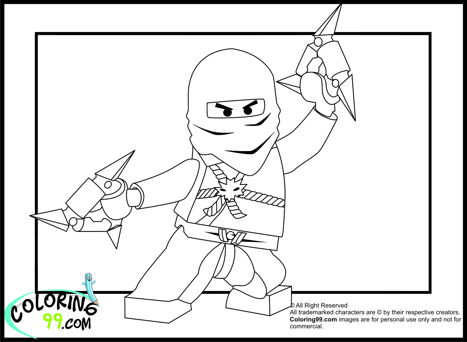 March 2013 team colors for Ninja lego coloring pages