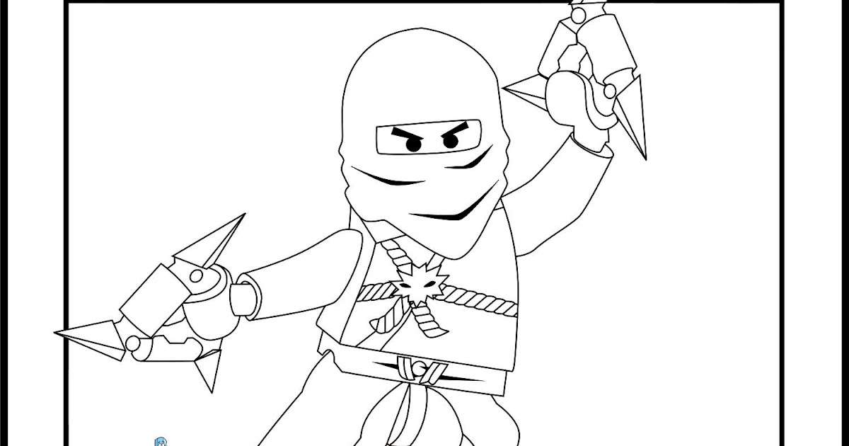 LEGO Ninjago Zane Coloring Pages | Team colors