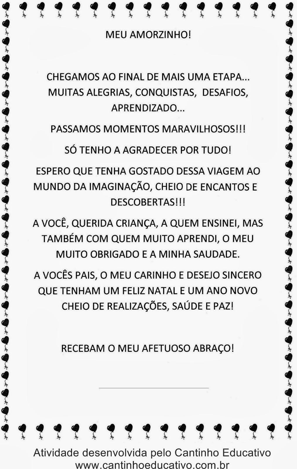 Amado MENSAGENS PARA O FINAL DO ANO LETIVO - CANTINHO EDUCATIVO IU58