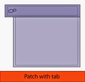 Patch with tab