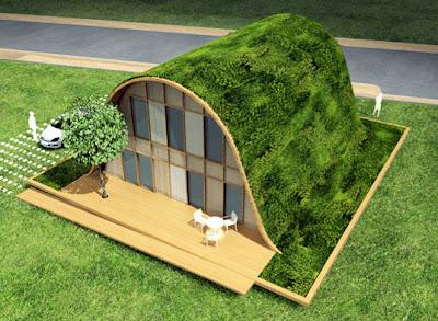 Diseño arquitectónico de casa ecologica