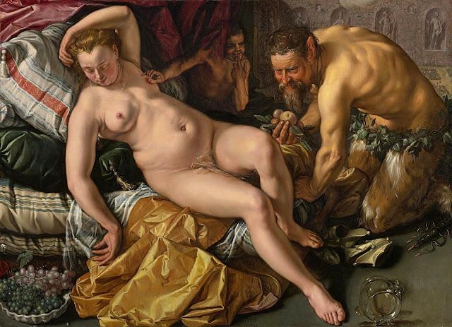 Hendrick Goltzius: Giove e Antiope - erotismo - sex art