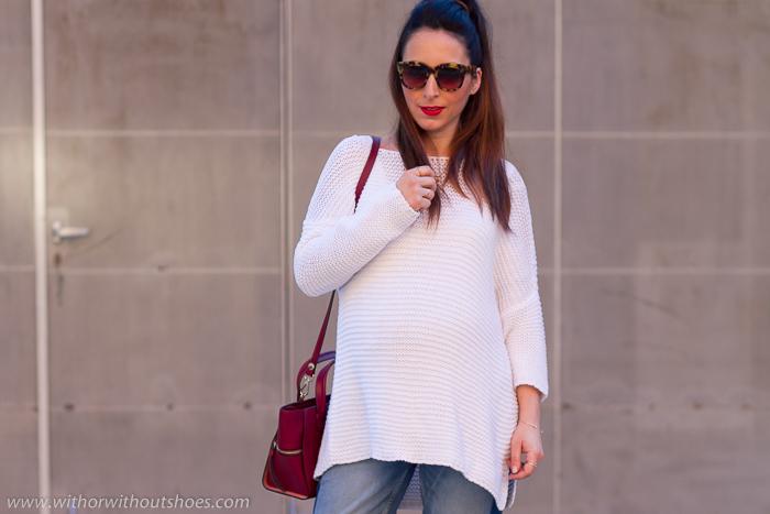 Blogger embarazada truco para usar tus pantalones viejos en el embarazo