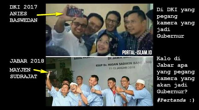 Misteri Foto Selfie: Di DKI yang pegang kamera yang jadi Gubernur, Di Jabar Akankah Seperti itu?