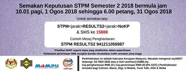 semak keputusan stpm semester 2 2018