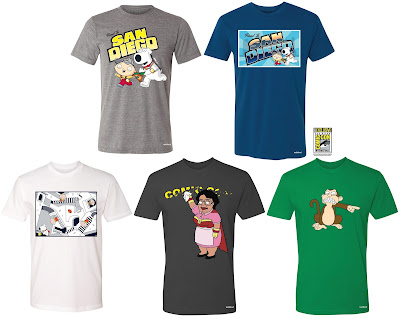 San Diego Comic-Con 2017 Exclusive Family Guy T-Shirt Collection by Toddland