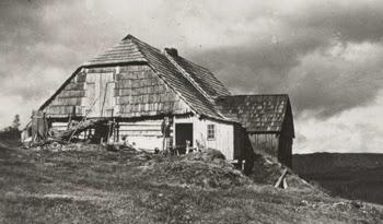 Bouda na Pláni v roce 1920
