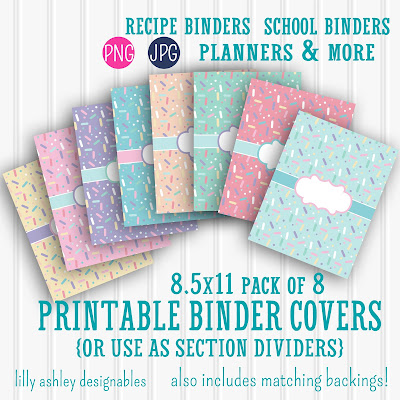 Freebie Printable Binder Cover Set