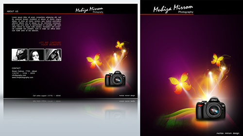 Create a Two fold Photography Brochure Photoshop Tutorial