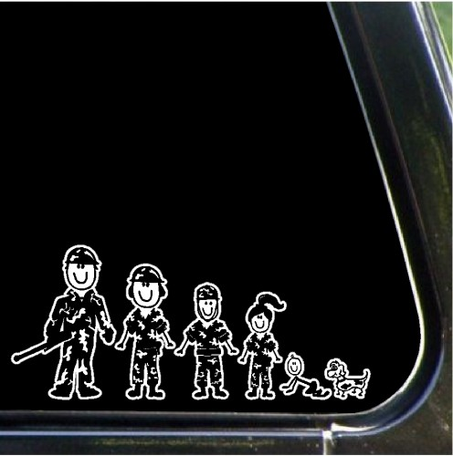 These arent your typical stick figure family stickers