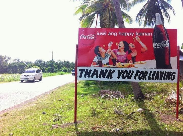 'Thank You For Leaving' Billboard