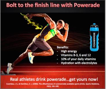 Bolt To The Finish Line With Powerade Nlp Applicative