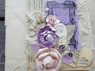 Открытка своими руками. Цветочки из бумаги с нуля по мастер-классу. Использование подручных материалов в скрапбукинге. Использованы: шитье, цветы Прима, рукодельные цветы ранункулюс и роза, тычинки, пуговки, камея из гипса, акриловая краска, чернила StazOn, штампы Prima, Scrapberry's, 7Gypsies, ножи Spellbinders, Memory box, Joy Crafts. Автор carambolka.ru.