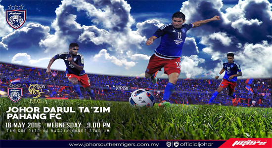 Live Streaming JDT vs Pahang FC 18 Mei 2016