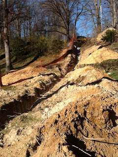 trench in dirt