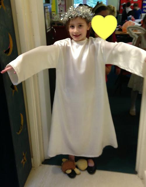 sasha in angel costume