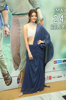 ranarangam telugu movie actress kajal agarwal in blue lehenga choli  boos show Pictures6.jpg