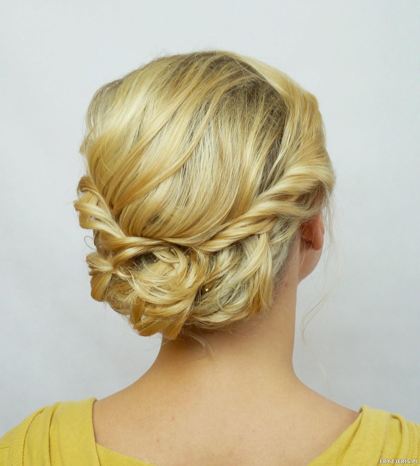 Fryzury Upięcie ślubne Na Włosach Do Ramion Blog O Włosach