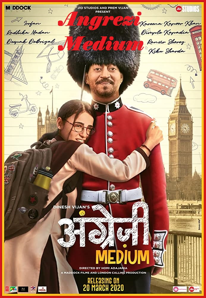 Angrezi Medium (2020) full hd Hindi Movie 480p HDRip 450MB ESubs