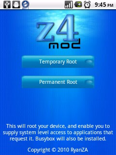 Rooting Ideos U8150 with z4root | Ideos U8150