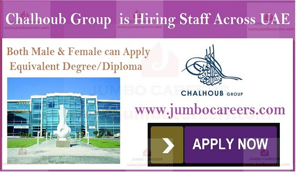 Driver jobs in UAE, Latest job openings in Chalhoub Group Dubai,