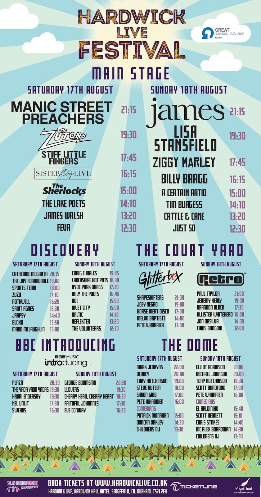 18 August 2019, Hardwick Live Festival, Durham - A Certain Ratio Gigography