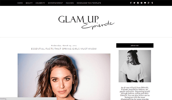 glam up template blogger