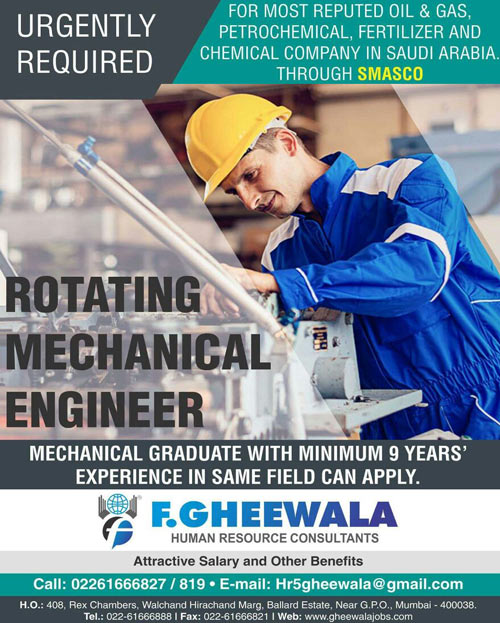 Rotating Mechanical Engineer Jobs Interview | SMASCO Saudi Arabia | F. Gheewala Human Resource Consultants