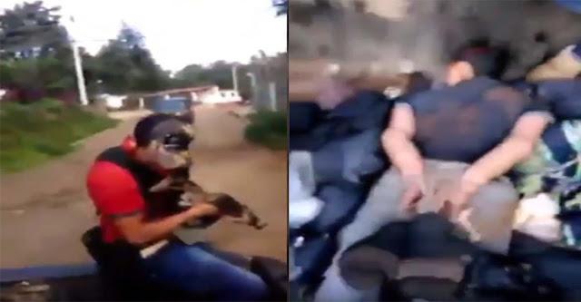 """VIDEO; """"Los Viagras"""" se graban levantando gente y aterrorizando los pueblos en Michoacán"""