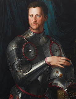 Cosimo I de' Medici in armour, as portrayed by Bronzino in 1545