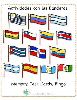 Flag Activities for Spanish Class