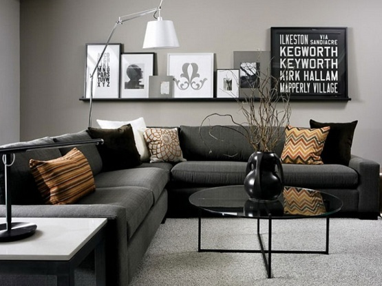 Grey Scale Living Room Wall Colors For Black Furniture