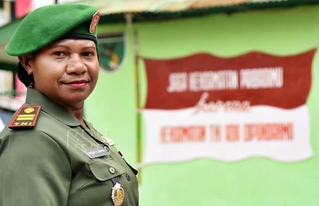 Inilah Sosok Danramil Pertama Perempuan di Papua