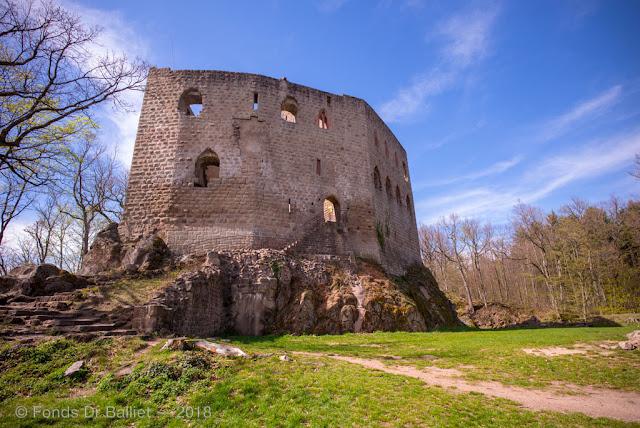 Château du Spesbourg - Le haut-château vu depuis la basse-cour