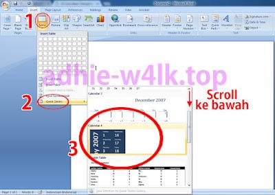 Cara Insert Kalender di Microsoft Word