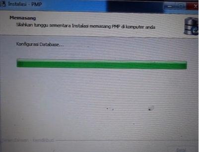 Tunggu proses instalasi PMP versi 1.3 hingga selesai
