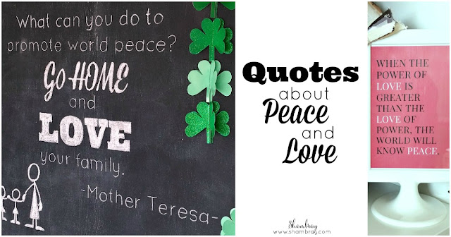 Quotes about Peace and Love