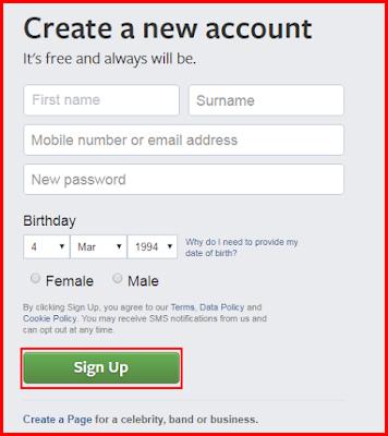 Make Facebook Account